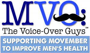 MVO The Voice-Over Guys Movember TAGLINE